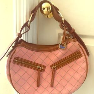 Pink and Green Dooney and Burke handbag